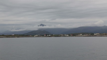 Norway island Averoy landscape video