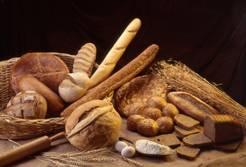Types of bread and ears.
