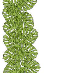 Закладка из листьев монстеры