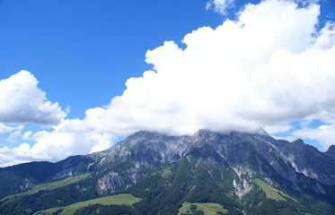 Clouds over  the Pinzgau  Mountains