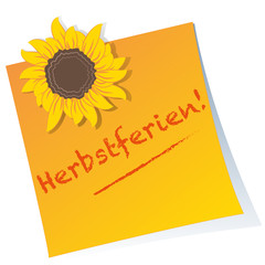 Herbstferien -  Post-it