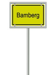 Bamberg - Ortsschild