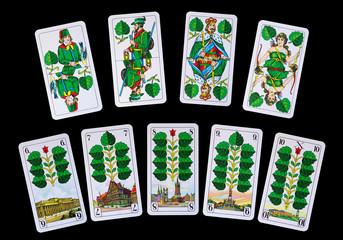 Spielkarten - Reise mit Grün zu Deutschlands Denkmäler