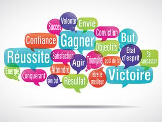 nuage de mots : réussite gagner goût de la victoire