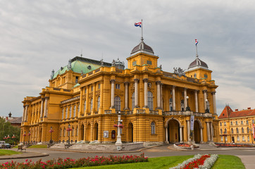 Croatian National Theatre (1895) in Zagreb, Croatia