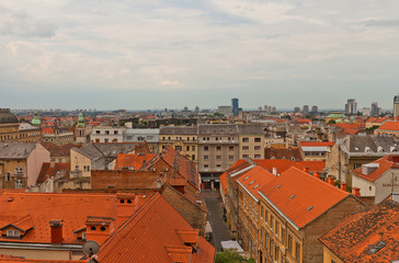 Lower Town of historic part of Zagreb, Croatia