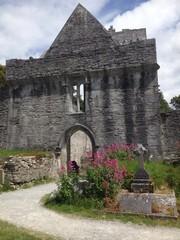 entrance to abbey, killarney, ireland