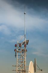 Satellite antenna on roof