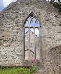 gothic window, ireland