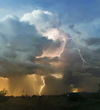A Chaotic Thundercloud with Lightning Strikes Within