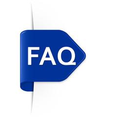 FAQ - Azurblauer Sticker Pfeil mit Schatten