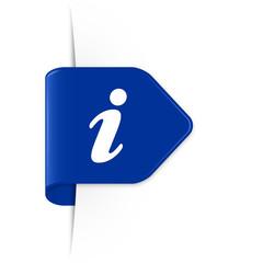 i - Azurblauer Sticker Pfeil