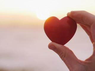 heart sunset love