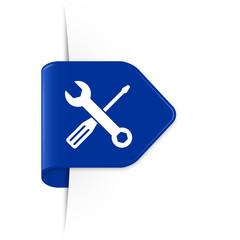 Screwdriver and spanner - Azurblauer Sticker Pfeil