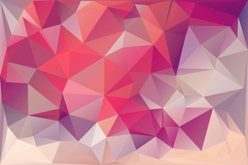 Pink Triangle Background With Polygons