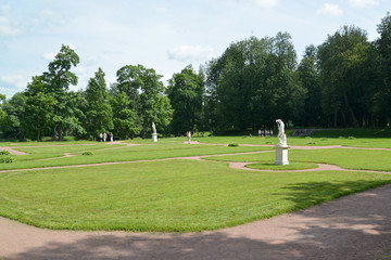 The bottom Dutch garden in Gatchina, Russia