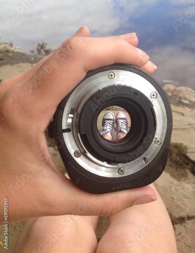 trainers through a lens