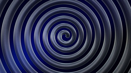 Abstract circles in blue metalic color