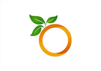 illustration of orange isolated on white background