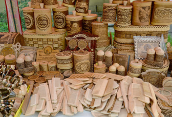 Sale of wooden and birch bark economic products