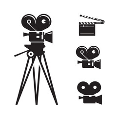 Movie camera. Vector format