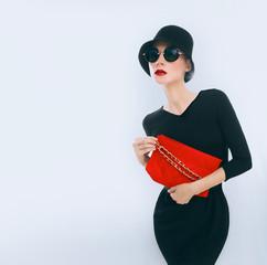 Retro style. Elegant glamor lady