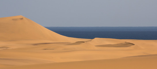 Namib Dunes and the Ocean near Swakopmund, Namibia