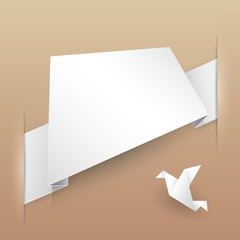 Abstract Vector Paper Banner Origami