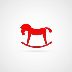 Rocking Horse Vector Symbol Icon