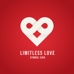 Limitless Love Vector Concept Symbol Icon Logo Template or