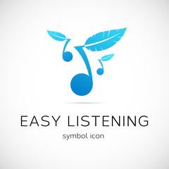 Easy Listening Music Vector Concept Symbol Icon