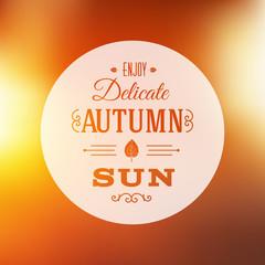 Autumn Sun Abstract Vector Background
