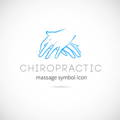 Chiropractic Massage Vector Concept Icon Symbol or Label