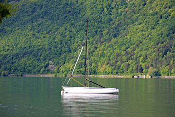 yacht on Lake Annecy