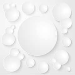 Round Plates Abstract Vector Seamless Background