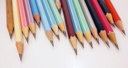 Pencils on desk