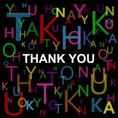 """""""THANK YOU"""" Letter Collage (thank you card message)"""