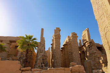 the ruins of Karnak