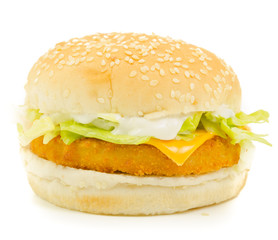 Isolated Chicken Burger