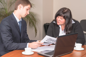 Businesspeople works in office
