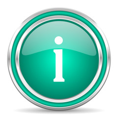 information green glossy web icon