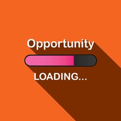 Long Shadow Loading Illustration - Opportunity