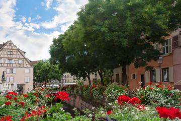 """Area """"Little Venice"""" in Colmar. France. Europe"""