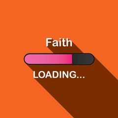 Long Shadow Loading Illustration - Faith