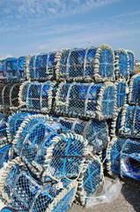 casiers a homards- peche en mer