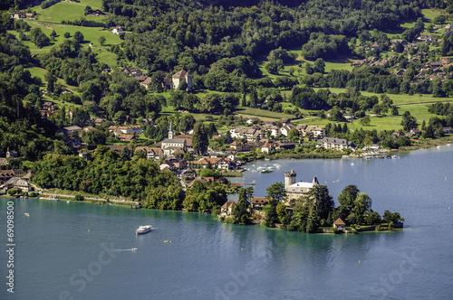 Papiers peints Alpes Chateau de Ruphy sur la presqu'île de Duingt