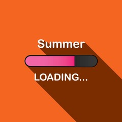 Long Shadow Loading Illustration - Summer