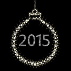 Happy New Year 2015 From Stars. Vector