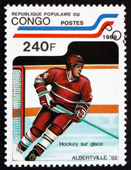 Postage stamp Congo 1994 Ice Hockey
