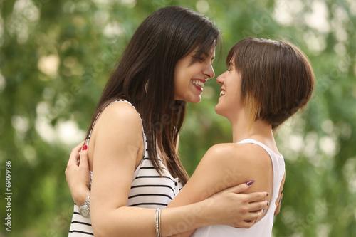 Female teenager friendship